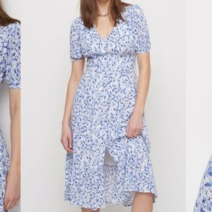 Dynamite Maxi Printed Dress with Button Detail